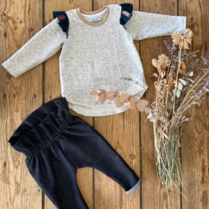 ensemble bebe fille pantalon Mayra sweat Tiya volants